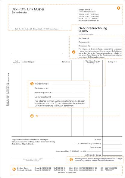 Gebührenrechnungen Für Steuerberater Erik Verlag